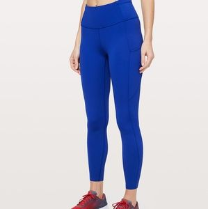 """Lululemon Fast and Free HR Tight 25"""" Size 8 Blue"""